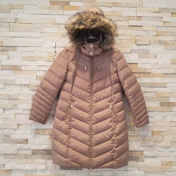 Michael Kors Womens Medium Long Puffer Jacket Coat